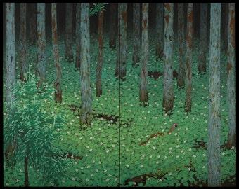 Mori by Katayama Bokuyo Home Decor Wall Decor Giclee Art Print Poster A4 A3 A2 Large Print FLAT RATE SHIPPING
