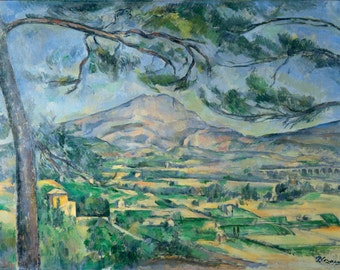 Mont Sainte-Victoire by Paul Cézanne Home Decor Wall Decor Giclee Art Print Poster A4 A3 A2 Large Print FLAT RATE SHIPPING