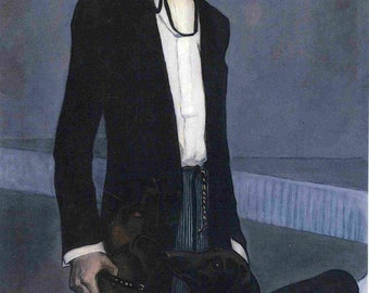 Una Troubridge by Romaine Brooks Home Decor Wall Decor Giclee Art Print Poster A4 A3 A2 Large FLAT RATE SHIPPING