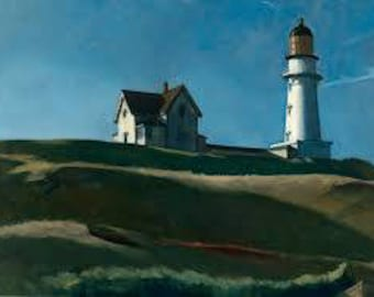 Lighthouse Hill by Edward Hopper Home Decor Wall Decor Giclee Art Print Poster A4 A3 A2 Large Print FLAT RATE SHIPPING