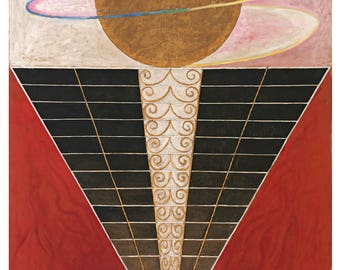 Group X, No. 2 by Hilma af Klint Home Decor Wall Decor Giclee Art Print Poster A4 A3 A2 Large FLAT RATE SHIPPING