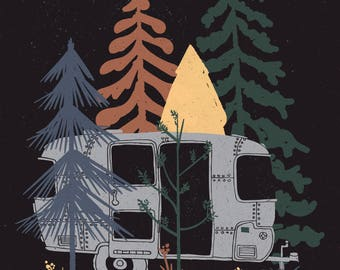 Wild Airstream by ND Tank Home Decor Wall Decor Giclee Art Print Poster A4 A3 A2 Large Print