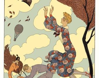 L'Air (Air) by George Barbier