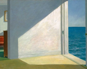 Rooms by the Sea by by Edward Hopper Home Decor Wall Decor Giclee Art Print Poster A4 A3 A2 Large Print FLAT RATE SHIPPING