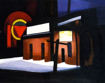 Roosevelt Laundry by Oscar Bluemner