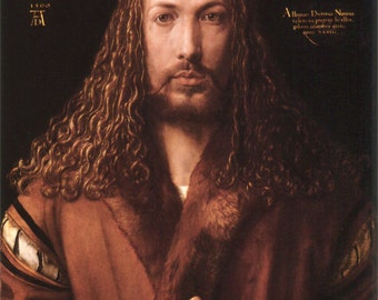 Self-portrait by Albrecht Dürer Home Decor Wall Decor Giclee Art Print Poster A4 A3 A2 Large Print FLAT RATE SHIPPING