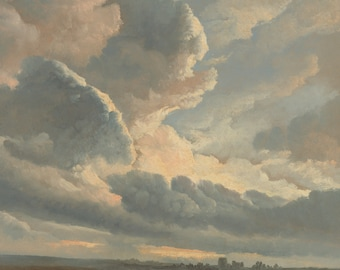 Study of Clouds by Simon Alexandre-Clément Denis Home Decor Wall Decor Giclee Art Print Poster A4 A3 A2 Large FLAT RATE SHIPPING