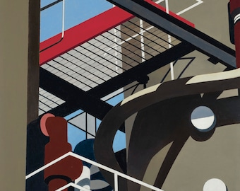Catwalk by Charles Sheeler Home Decor Wall Decor Giclee Art Print Poster A4 A3 A2 Large Print FLAT RATE SHIPPING
