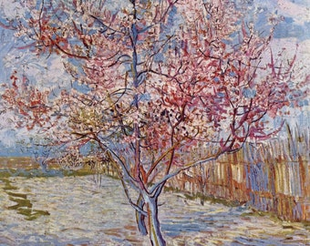 Flowering Orchards by Vincent Van Gogh Home Decor Wall Decor Giclee Art Print Poster A4 A3 A2 Large Print FLAT RATE SHIPPING