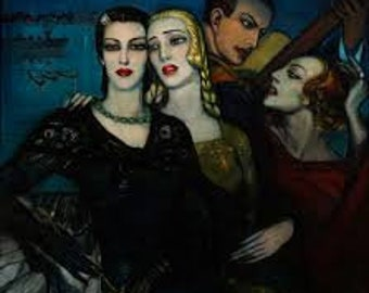 Tres Para Uno by Federico Beltran Masses Home Decor Wall Decor Giclee Art Print Poster A4 A3 A2 Large Print FLAT RATE SHIPPING