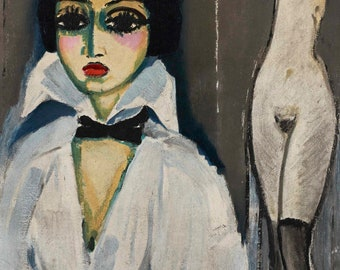 Marcelle Leoni Cantini by Kees van Dongen Home Decor Wall Decor Giclee Art Print Poster A4 A3 A2 Large Print FLAT RATE SHIPPING