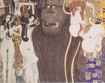Gustav Klimt Art Print The Beethoven Frieze
