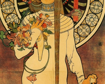 Art Nouveau Poster The Trappistine by Mucha