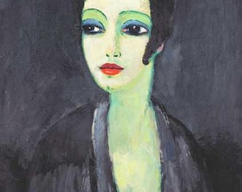 Tamara, The Painter's Muse by Kees van Dongen Home Decor Wall Decor Giclee Art Print Poster A4 A3 A2 Large Print FLAT RATE SHIPPING