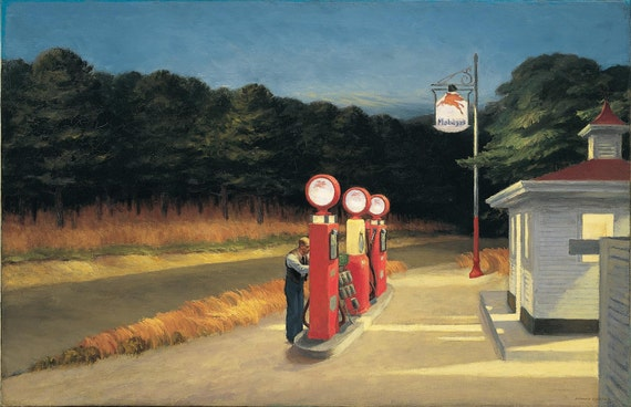 Gas 1940 By Edward Hopper Home Decor Wall Decor Giclee Art Etsy