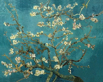 Almond Blossoms Blue by Vincent Van Gogh Home Decor Wall Decor Giclee Art Print Poster A4 A3 A2 Large Print FLAT RATE SHIPPING