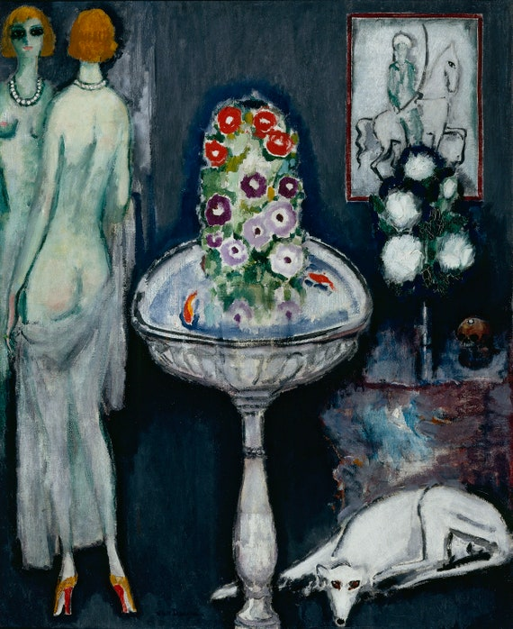 La Vasque Fleurie by Kees van Dongen Home Decor Wall Decor Giclee Art Print Poster A4 A3 A2 Large Print FLAT RATE SHIPPING