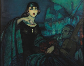 Pola Negri by Federico Beltran Masses Home Decor Wall Decor Giclee Art Print Poster A4 A3 A2 Large Print FLAT RATE SHIPPING