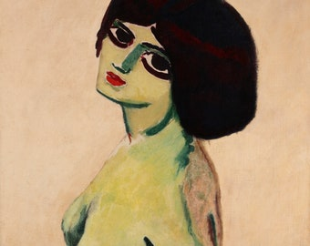 Deux yeux by Kees van Dongen Home Decor Wall Decor Giclee Art Print Poster A4 A3 A2 Large Print FLAT RATE SHIPPING