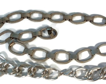 Over 2 feet Vintage Chain, Silver Chain, Rare Chain, Vintage Supplies Jewelry Chain Jewelry Making Chain Beading Chain Link Chain, Designer