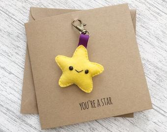 Thank you Card, congratulations card, teacher card, well done card, keyring card, magnet card, badge card