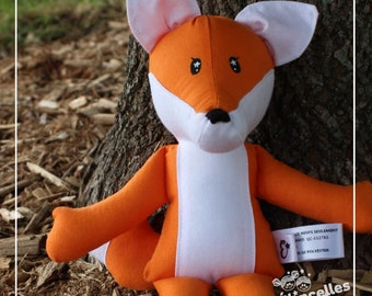 Petit renard ami de la forêt belle poupée de chiffon Étincelles et moi fait à la main au Québec avec beaucoup d'amour