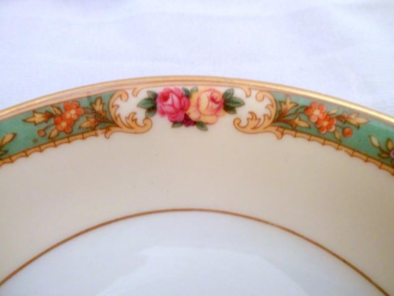 Vintage 1930/'s Rare KPM Porcelain The Rosedale Pattern #27469 Berry Bowl