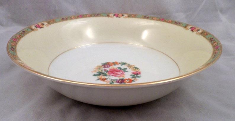 KPM Porcelain The Rosedale Pattern #27469 Large Round Serving Bowl