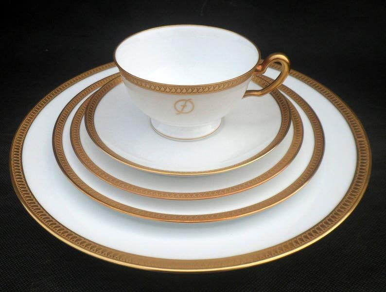"Teahouse Rose Dansico Platinum Trim Fine China 6 3//8/"" Bread Plates Set of 3 or 4"