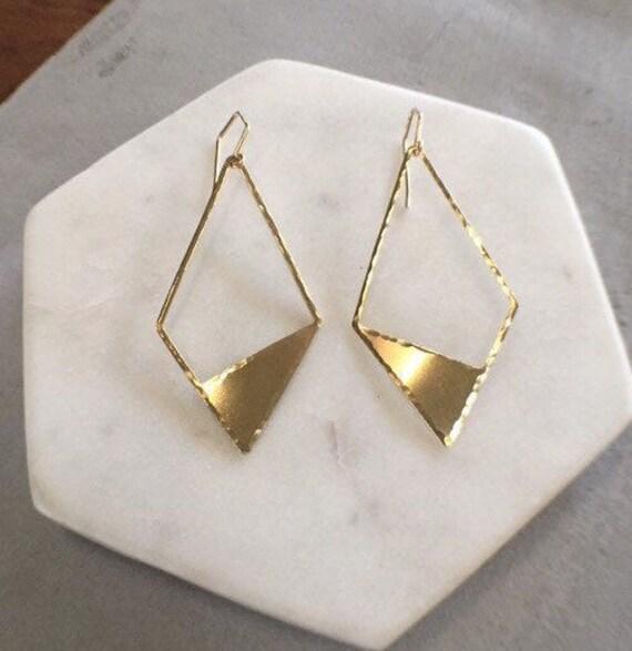 geometric kite earrings
