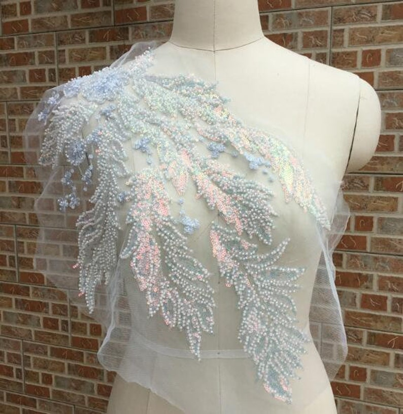 Couture Gowns Lyrical Dance Ballet pink 3D Applique #1 Beaded for GRAD