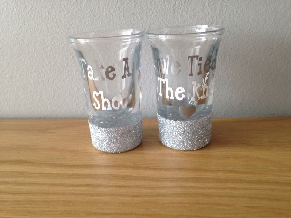 Take A Shot We Tied The Knot Wedding Favour Etsy