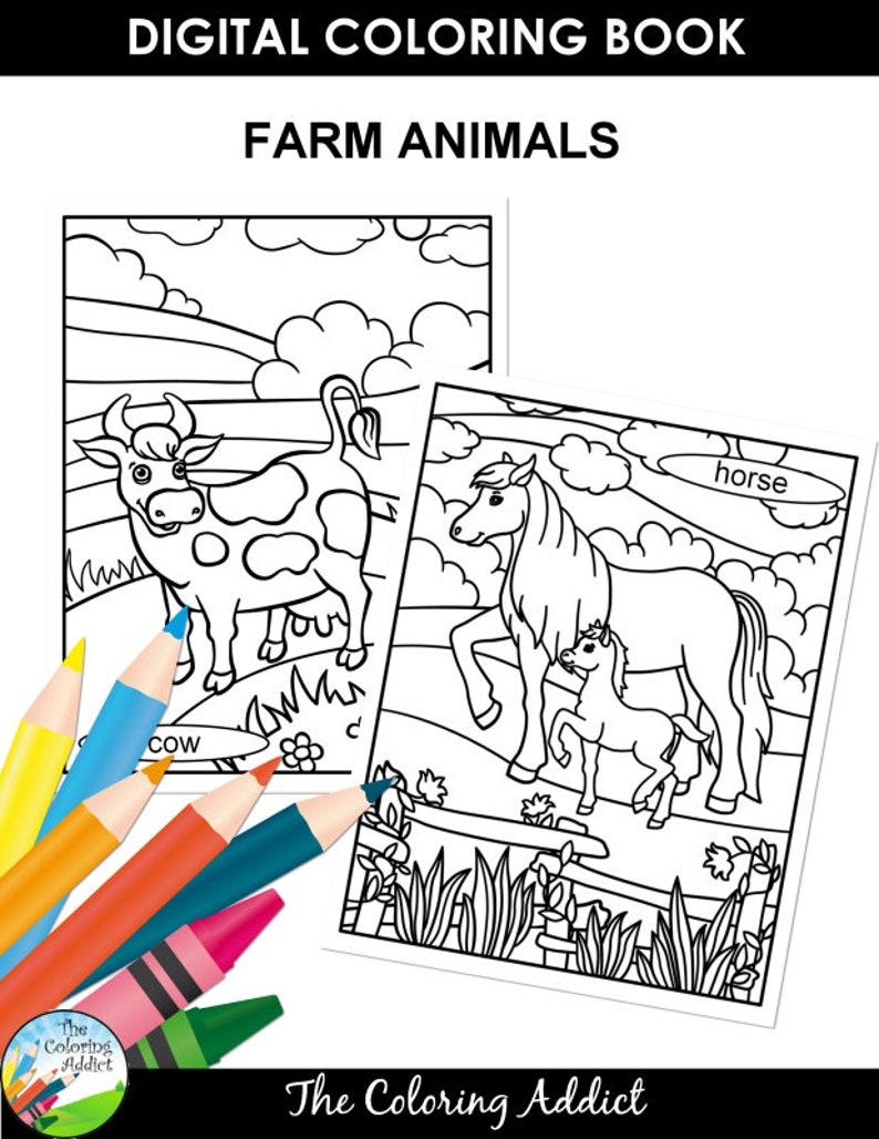 - Farm Animals Coloring Book Etsy