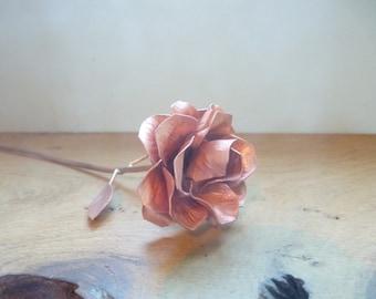 Copper rose, 15th wedding anniversary, 7th anniversary, Valentine love gift, copper gift