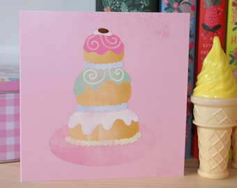 The Grand Budapest Hotel Mendl's Cake Square Greeting Card