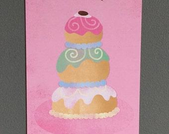 The Grand Budapest Hotel Mendl's Cake A6 Postcard Print