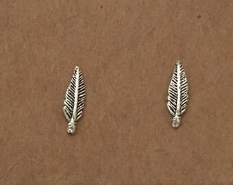 83b50b897 Sterling Silver Feather Earrings Stud Earrings Boho Feather Silver Earrings  Stud Silver Feather Studs Minimalist Silver Jewelry Silver Studs