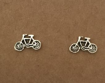 Sterling Silver Bicycle Earrings, Stud Earrings, Bike, Earrings, Sterling Silver, Bicycle, Silver, Sterling Silver Stud Earrings, Australia