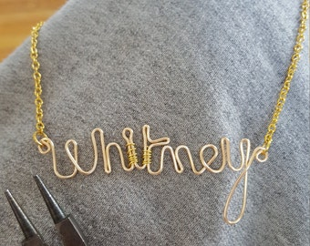 Personalized hand crafted name pendant. your choice of name  (with option to make it a necklace). MUST READ DESCRIPTION! Free S&H