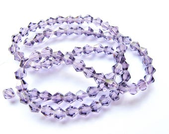 30 TOP CRYSTAL AMETHYST ROUND BEADS HAVE FACETED 4 MM