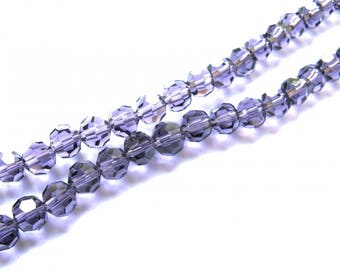 20 ROUND AMETHYST CRYSTAL BEADS HAVE FACETED 6 MM