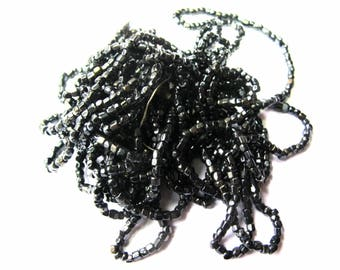 1 STRAND BEADED FACETED 1-3 MM BLACK 45 CM