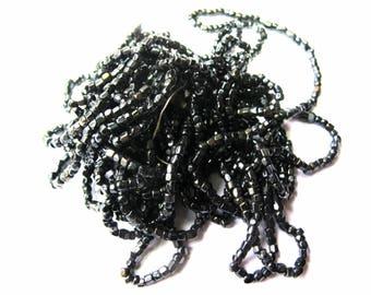 1 STRAND BEADED FACETED 1-3 MM BLACK 45 CM