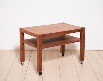 Mid Century Rolling End Table