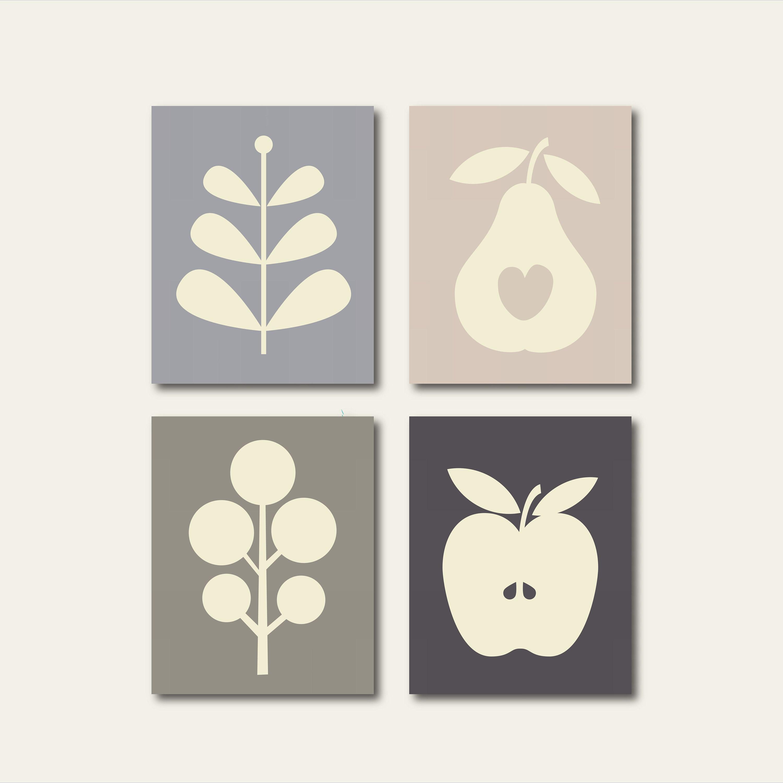 Küche Wand Küche Wand-Dekor Küchen-Druck-Set Küche Kunst