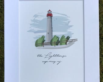 Cape May Lighthouse 11x14 print