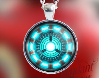 Arc reactor necklace etsy aloadofball Image collections