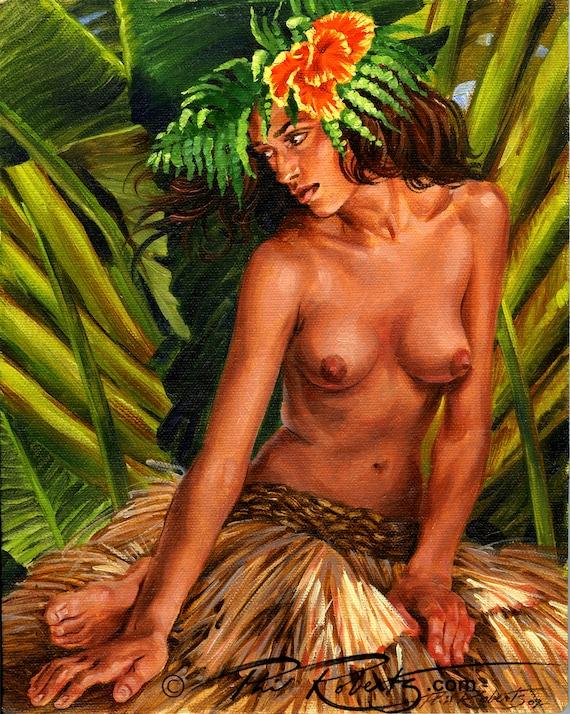 Hawaiian hula girl bdsm