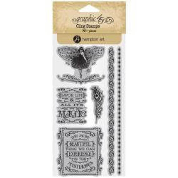 Midnight Masquerade 2-7 Stamp Set New Graphic 45 Cling Stamps