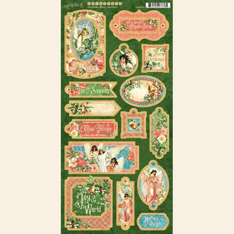 NOW SHIPPING Graphic 45 Joy To The World Chipboard SC007873 image 0